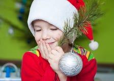 Adorable Christmas boy Royalty Free Stock Photography