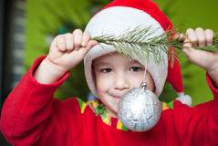 Adorable Christmas boy Royalty Free Stock Images