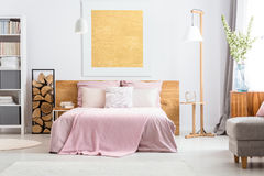 Adorable classic bedroom royalty free stock photos