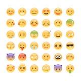 Adorable classic emoticon design Stock Image