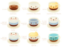 Adorable Coffee List Character. Vector file EPS10 Stock Photography