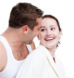 Adorable couple looking at each other Stock Image