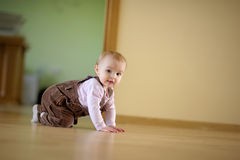 Adorable crawling baby girl Royalty Free Stock Photo