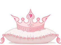 Crown on the pillow Royalty Free Stock Photography