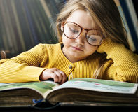 Adorable Cute Girl Reading Storytelling Concept Royalty Free Stock Images