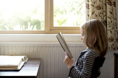Adorable Cute Girl Reading Storytelling Concept Royalty Free Stock Photo