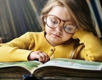 Adorable Cute Girl Reading Storytelling Concept Stock Photos