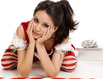 Adorable cute santa clause Royalty Free Stock Images