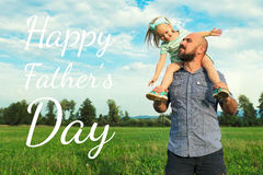 Adorable daughter and father portrait, Father`s day concept. Adorable daughter and father portrait, happy family, Father`s day concept stock photos