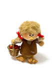 Adorable doll. Santa claus doll with the curious face stock images