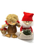 Adorable doll. Adorable Santa Claus doll with funny girl doll royalty free stock images