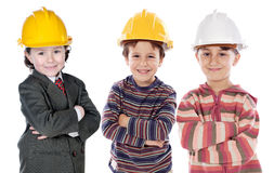 Adorable engineering team Royalty Free Stock Photography