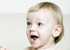 Adorable excited baby Stock Image