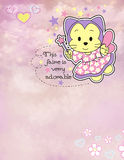 Adorable fairy card Royalty Free Stock Image