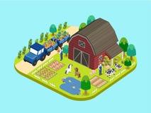 Adorable farmland concept stock illustration
