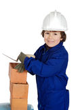 Adorable future builder Stock Photos