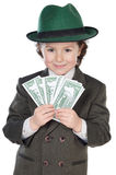 Adorable future businessman Stock Image