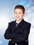 Adorable future businessman Stock Images