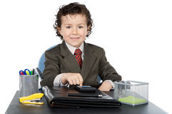 Adorable future businessman in your office Royalty Free Stock Photography