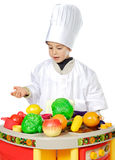 Adorable future cook Royalty Free Stock Photo