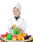 Adorable future cook Royalty Free Stock Photos