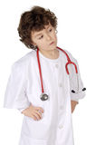Adorable future doctor Stock Photography