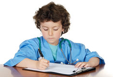 Adorable future doctor Stock Images