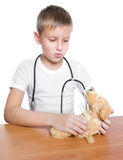 Adorable future doctor 7 years old Stock Image