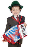 Adorable future musical. A over white background Royalty Free Stock Image