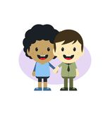 Adorable gay cartoon character Stock Photography