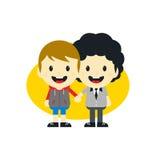 Adorable gay cartoon character Royalty Free Stock Image