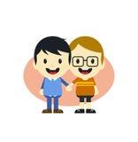 Adorable gay cartoon character Stock Image