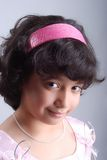 Adorable girl. With black hair and black eyes Stock Photography