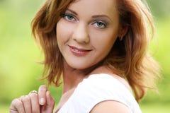 Adorable girl with adorable smile Stock Photos