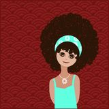 Adorable girl with afro hairstyle Royalty Free Stock Images