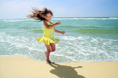 Adorable girl on beach Royalty Free Stock Image