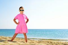 Adorable girl at beach Royalty Free Stock Photos