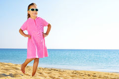 Adorable girl on the beach Royalty Free Stock Image