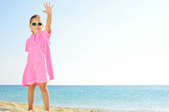 Adorable girl at beach Stock Photo