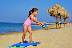 Adorable girl at beach Stock Photography