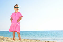 Adorable girl at beach Royalty Free Stock Image
