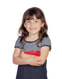 Adorable girl with a beautiful dress Royalty Free Stock Photography