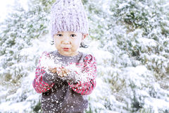 Adorable girl celebrate Christmas Stock Photos