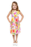 Adorable girl child in floral frock Stock Image