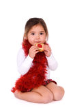 Adorable girl with cookie. Stock Images