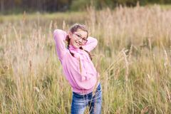 Adorable girl in glasses Royalty Free Stock Photo