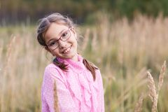 Adorable girl in glasses Royalty Free Stock Image