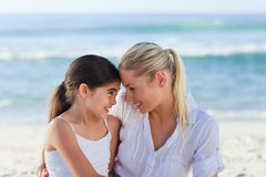 Adorable girl with her mother Royalty Free Stock Photos