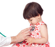 Adorable girl in a medical examination Stock Photos