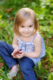 Adorable girl outdoors on beautiful day Royalty Free Stock Images